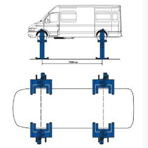 Подъемник подкатной электромеханический г/п 6 тонн П14-14