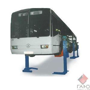 Подъемник для автобусов и сцепок шестистоечный  передвижной на 24т ПП-24 по ТЗ
